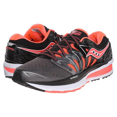 Saucony Hurricane ISO 2 Women's Black, Charcoal, Coral S10293-2
