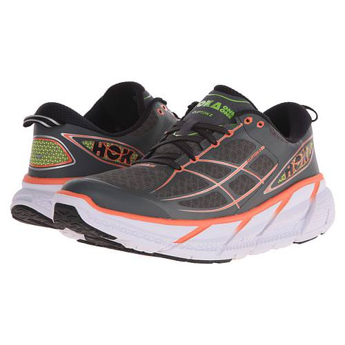 Hoka One One Clifton 2 Women's Grey, Neon Coral 1008329 GNCR