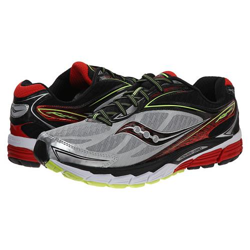 Saucony Ride 8 Men's Running Silver, Red, Citron S20273-1