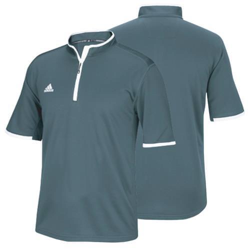 Adidas Climalite® Shockwave Short Sleeve Onix 1/4 Zip 6814A OXW