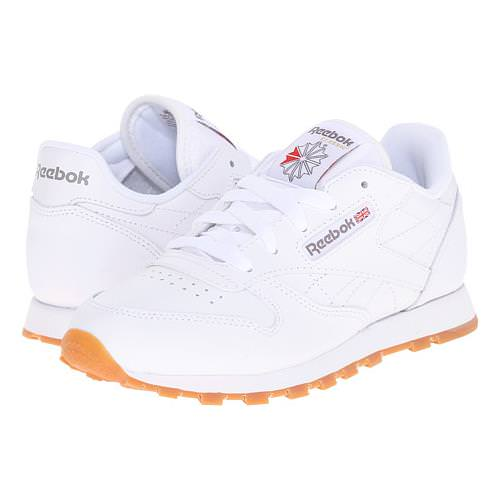 Reebok Classic Leather White, Gum Women's 49801