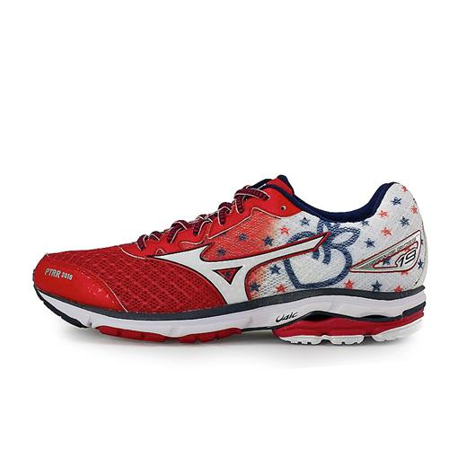 Mizuno Wave Rider 19 Peachtree Road Race Men's Running Chinese Red, White 410798.1F00