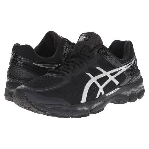 Asics Gel Kayano 22 Men's Running Shoe Wide 4E Onyx, Silver, Charcoal T549N 9993