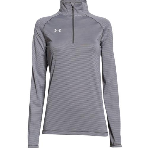 Under Armour Women's Microstripe Tech 1/4 Zip Graphite 1276211-041
