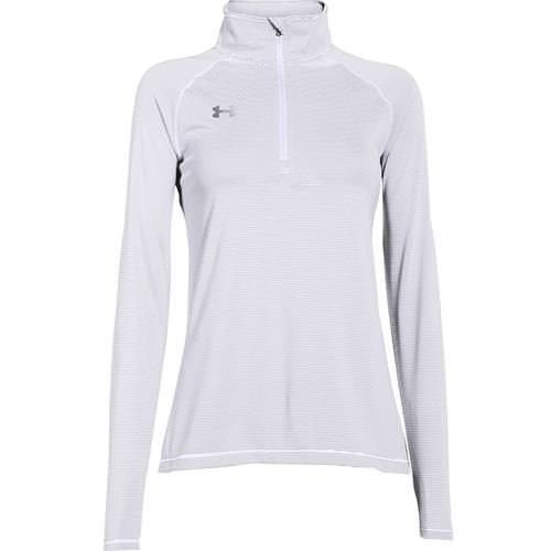 Under Armour Women's Microstripe Tech 1/4 Zip White 1276211-100