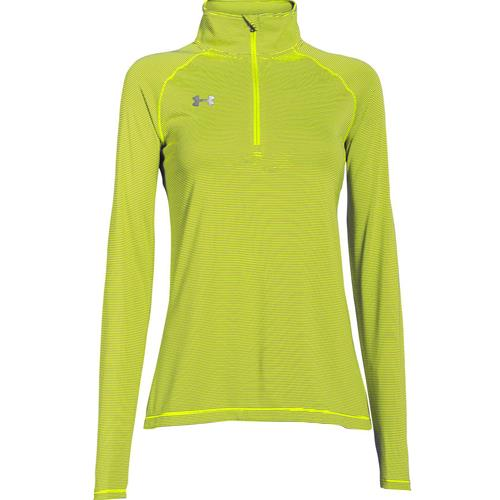 Under Armour Women's Microstripe Tech 1/4 Zip High-Vis Yellow 1276211-731