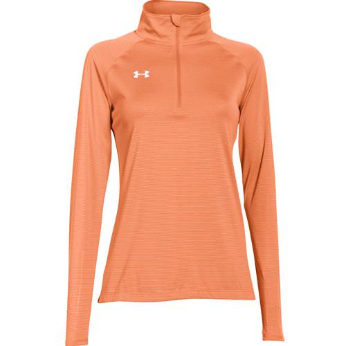 Under Armour Women's Microstripe Tech 1/4 Zip Citrus Blast 1276211-800