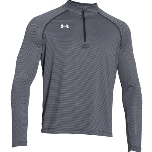 Under Armour Men's Stripe Tech 1/4 Zip Black 1276228-001