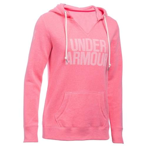 Under Armour Favorite Wordmark Fleece Hoody Knockout Pink 1283253-656