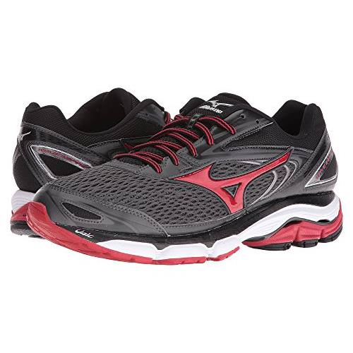 Mizuno Wave Inspire 13 Men's Running Shoes Dark Shadow, Chinese Red, Black 410875.991G