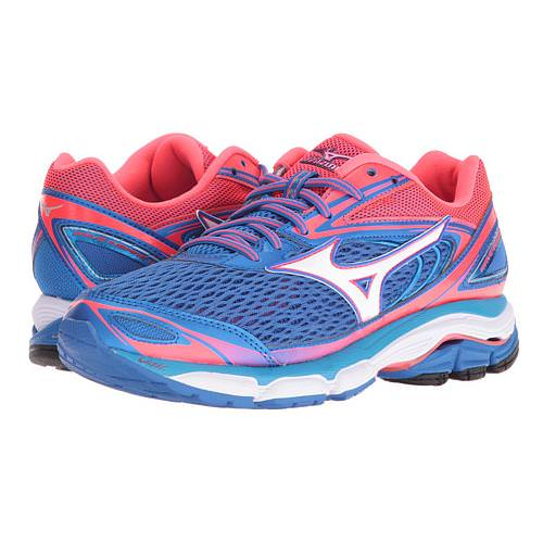Mizuno Wave Inspire 13 Women's Running Shoes Strong Blue, Diva Pink, White 410877.4V13