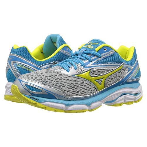 Mizuno Wave Inspire 13 Women's Running Shoes High-Rise, Bolt, Blue Atoll 410877.9130
