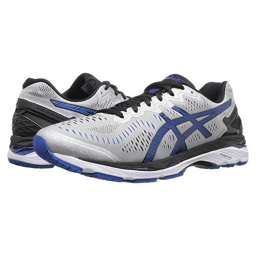 Asics Gel Kayano 23 Men's Running Shoe Silver, Imperial, Black T646N 9345