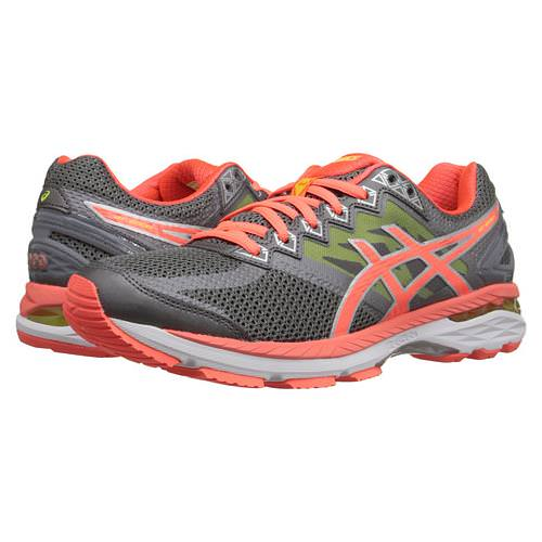 Asics GT-2000™ 4 Women's Running Shoe Charcoal, Flash Coral, Flash Yellow T656N.9606