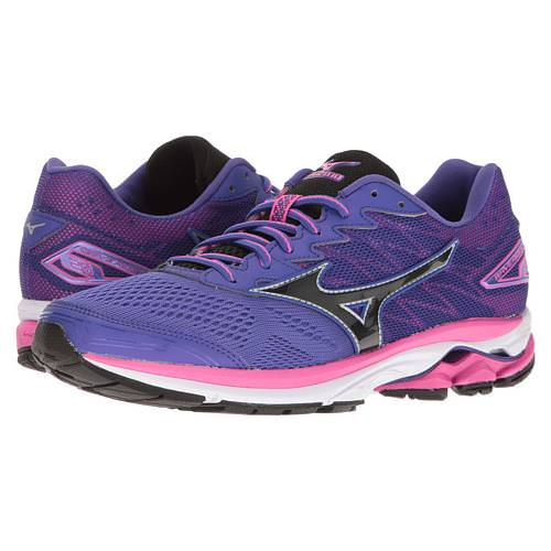 Mizuno Wave Rider 20 Women's Running Liberty, Black, Electric 410867.6090