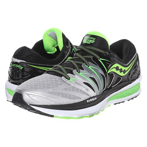 Saucony Hurricane ISO 2 Men's Wide EE Black, Silver, Lime S20294-1