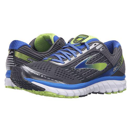 Brooks Ghost 9 Men's Running Anthracite, Electric Brooks Blue, Lime Punch 1102331D060