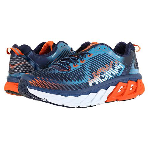 Hoka One One Arahi Men's Medieval Blue, Red Orange 1016258 MBRO