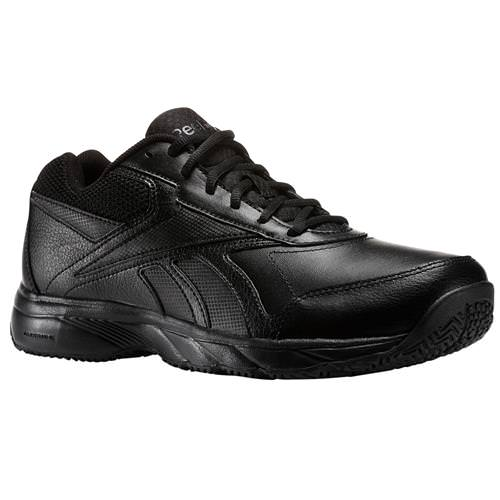 Reebok Work 'N Cushion 2.0 Men's Walking Shoes Wide 4E Black AQ9229