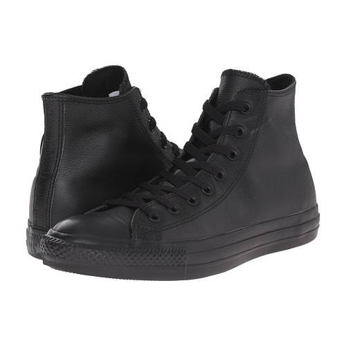 Converse Chuck Taylor All Star Hi Leather Black Monochrome 135251C