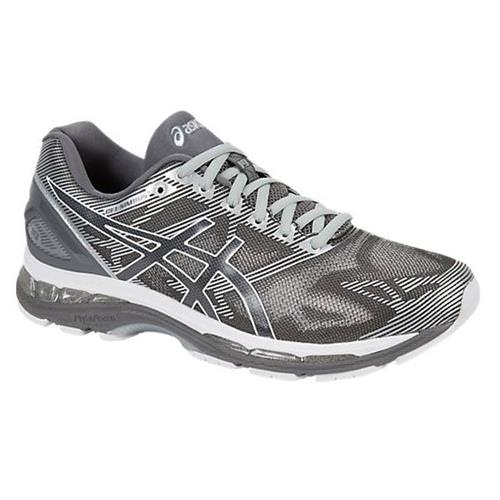 Asics Gel Nimbus 19 Men's Running Shoe Carbon, White, Silver T700N 9701