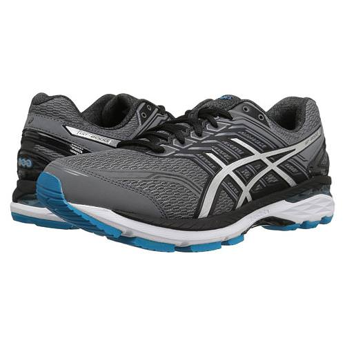 Asics GT-2000™ 5 Men's Running Wide 4E Shoe Carbon, Silver, Island Blue T709N 9793