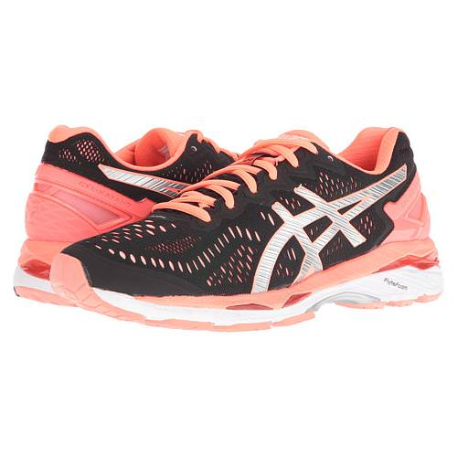 Asics Gel Kayano 23 Women's Black Silver,Flash Coral T696N 9093