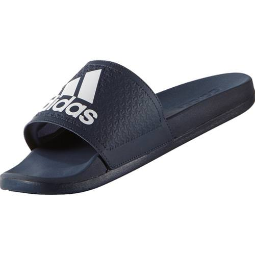 Adidas Adilette Cloudfoam Plus Slides Mens in Collegiate Navy, White AQ3116