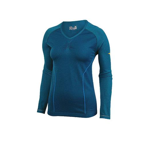 Mizuno Breath Thermo Women's Seamless Long Sleeve Shirt Blue Sapphire 421347.7N7N