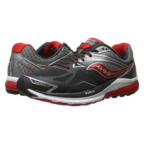 Saucony Ride 9 Men's Running Wide EE Grey, Charcoal, Red S20319-1