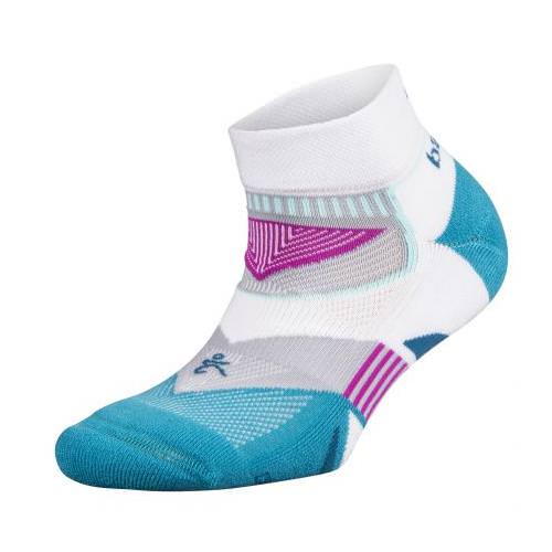 Balega Womens Enduro V-Tech Low Cut White, Lake Blue 7453-1645