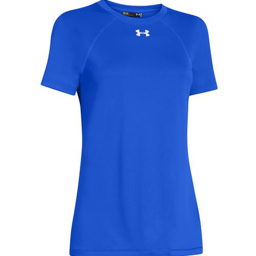 Under Armour Women's Locker Tee Short Sleeve Royal, White 1268481-400