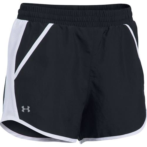 Under Armour Women's Fly By Run Shorts Black, White 1297125-001