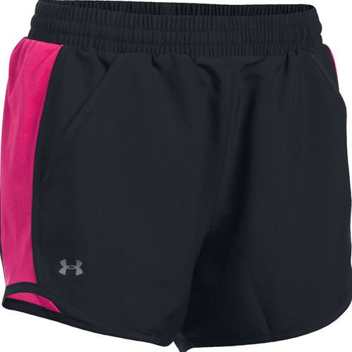 Under Armour Women's Fly By Run Shorts Black, Pink 1297125-003