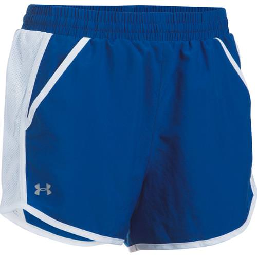 Under Armour Women's Fly By Run Shorts Royal, White 1297125-400