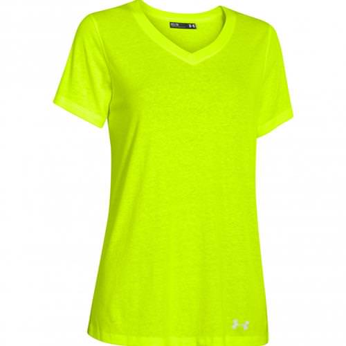 Under Armour Locker Women's Stadium V-Neck Tee Short Sleeve Hi-Vis Yellow, White 1258824-731