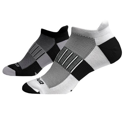 Brooks Ghost Midweight Two-Pack Sock Black, White 741543040
