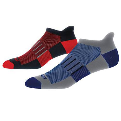 Brooks Ghost Midweight Two-Pack Sock Marathon, Red 741543067