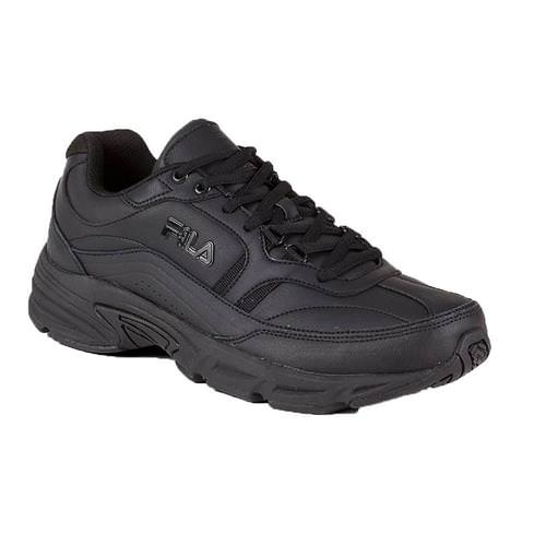 Fila Memory Workshift Women's Wide D Black Slip-Resistant Walker 5SGW0002 001