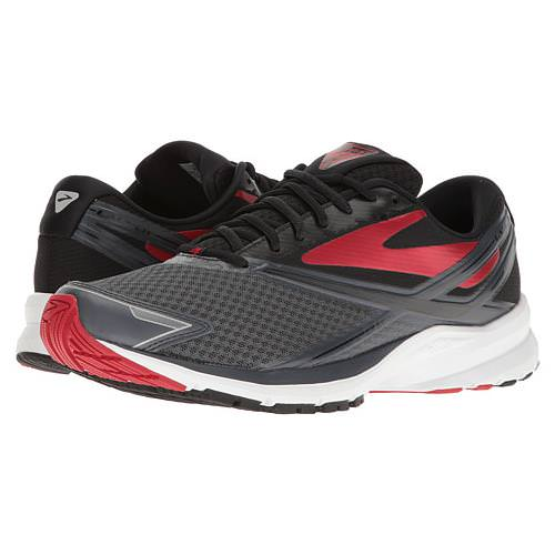 Brooks Launch 4 Men's Running Anthracite, Black, High Risk Red 1102441D016