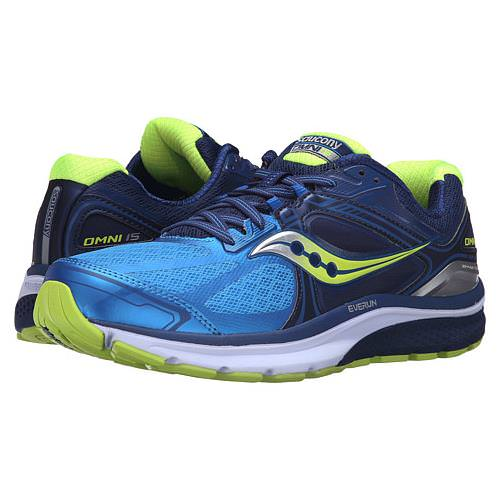 Saucony Omni 15 Men's Running Shoe Twilight, Blue, Citron S20315-2