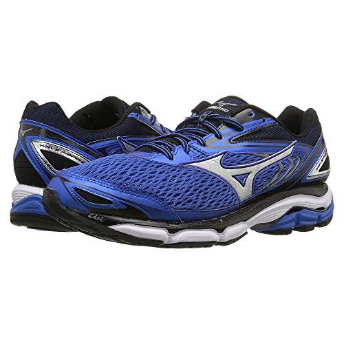Mizuno Wave Inspire 13 Men's Running Shoes Wide EE Strong Blue, Silver, Black 410876.7S73