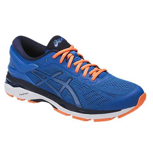 Asics Gel Kayano 24 Men's Running Shoe Directoire Blue, Peacoat, Hot Orange T749N 4358