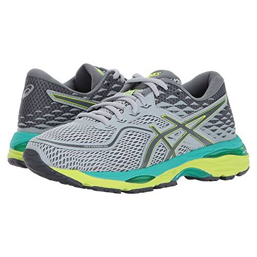 Asics GEL-Cumulus 19 Women's Running Mid Grey, Carbon, Safety Yellow T7B8N 9697