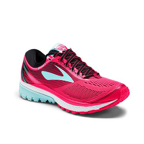 Brooks Ghost 10 Women's Running Diva Pink, Black, Iceland Blue 1202461B995