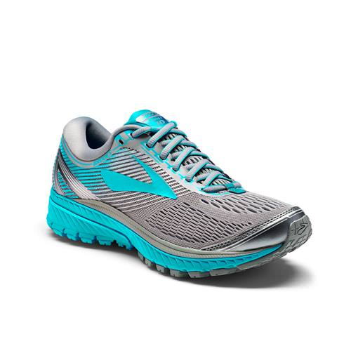 Brooks Ghost 10 Women's Running Wide D Primer Grey, Teal Victory, Silver 1202461D03