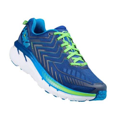 Hoka One One Clifton 4 Men's Wide EE True Blue, Jasmine Green 1016779 TBJGR