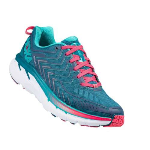 Hoka One One Clifton 4 Women's Wide D Blue Coral, Ceramic 1016780 BCCM