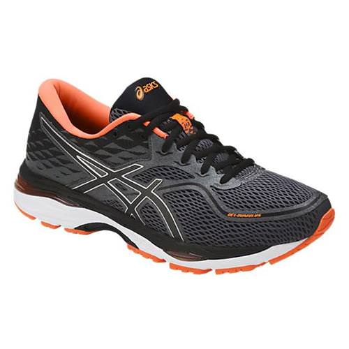 Asics GEL-Cumulus 19 Men's Running Carbon, Black, Hot Orange T7B3N 9790