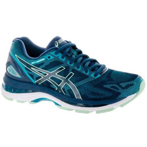 Asics Gel Nimbus 19 Women's Running Shoe Insignia Blue, Glacier Sea, Crystal Blue T750N 5067
